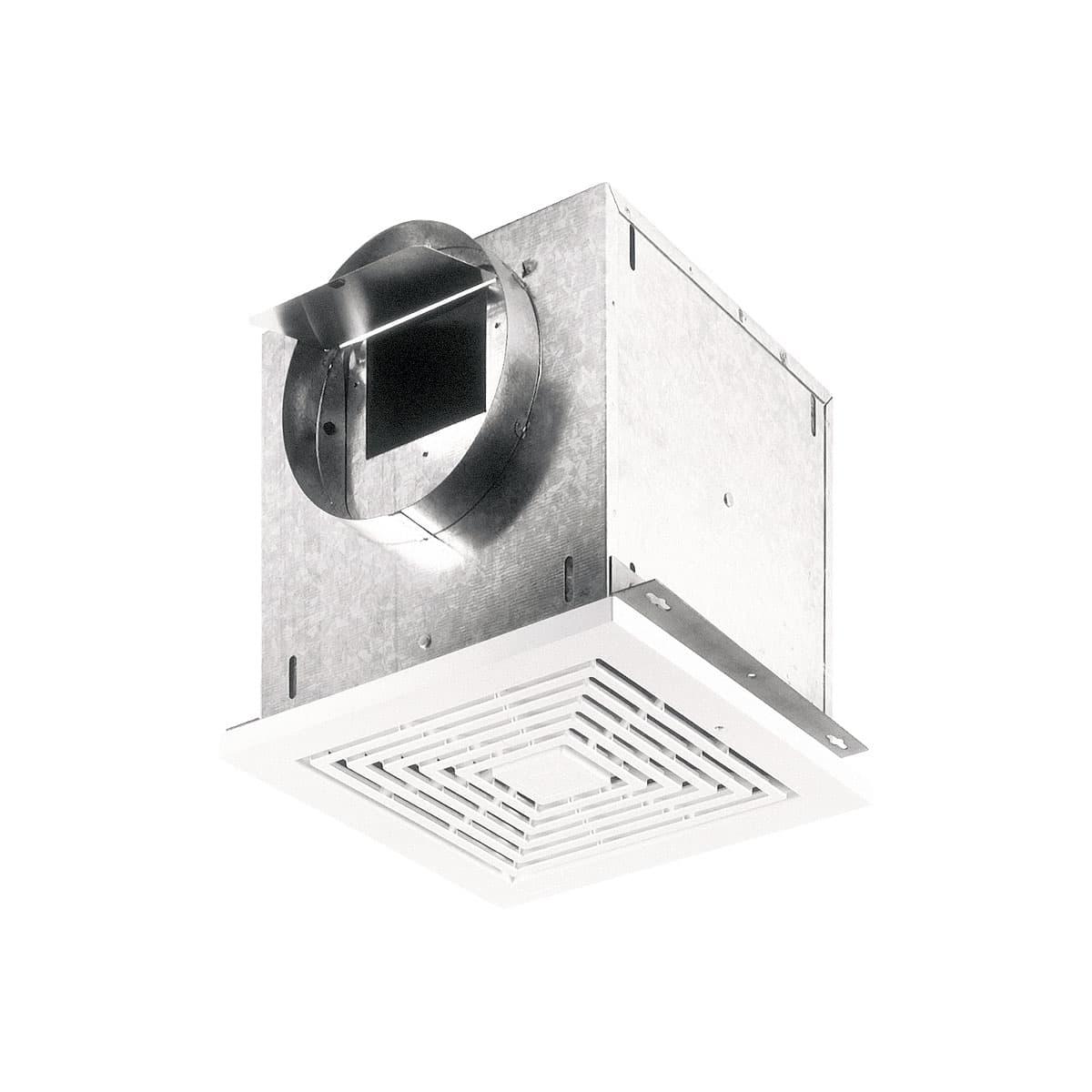 Broan 100 Cfm Ceiling Exhaust Fan With Light 696: Broan 109 CFM High Capacity Ceiling Mount Ventilation Fan