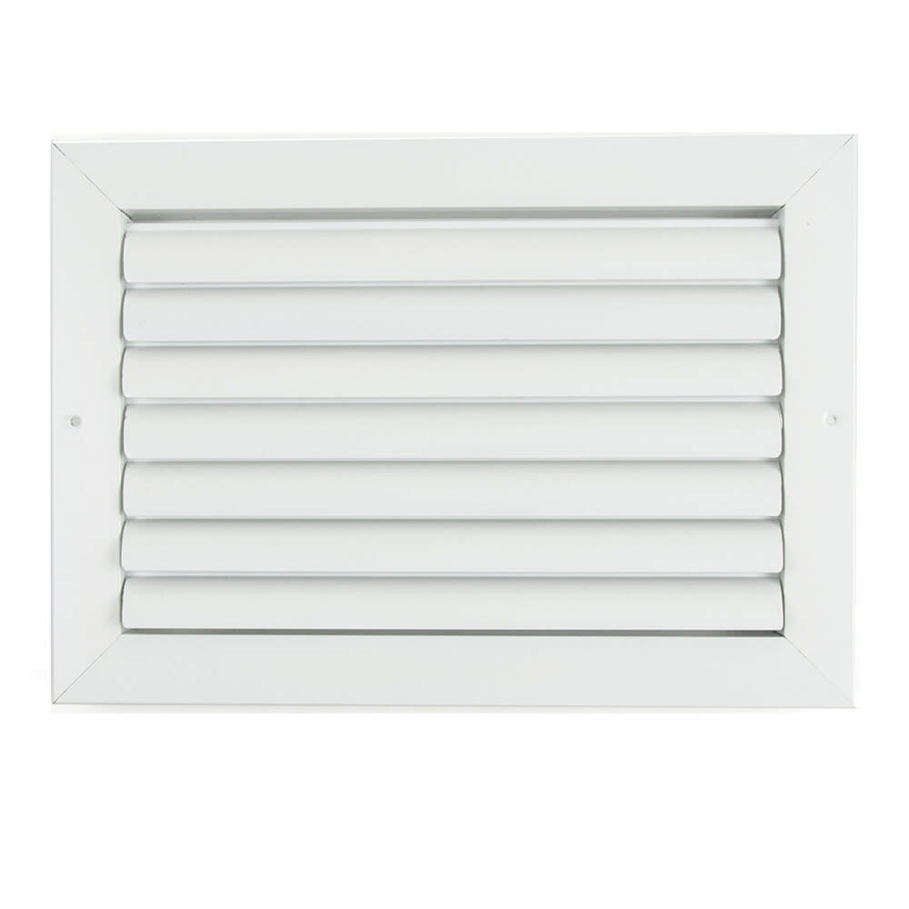 AirGuide 1-Way Curved Blade Supply Register/Diffuser w/ Multi-Shutter  Parallel Blade Damper - CBHML1ME-WH