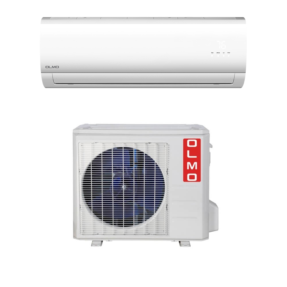 OLMO Alpic Series 12,000 BTU 15 5 SEER Wall Mount Ductless Mini Split Air  Conditioner 230V with Heat Pump