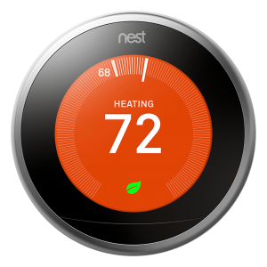 3rd Gen Learning Thermostat Stainless Steel