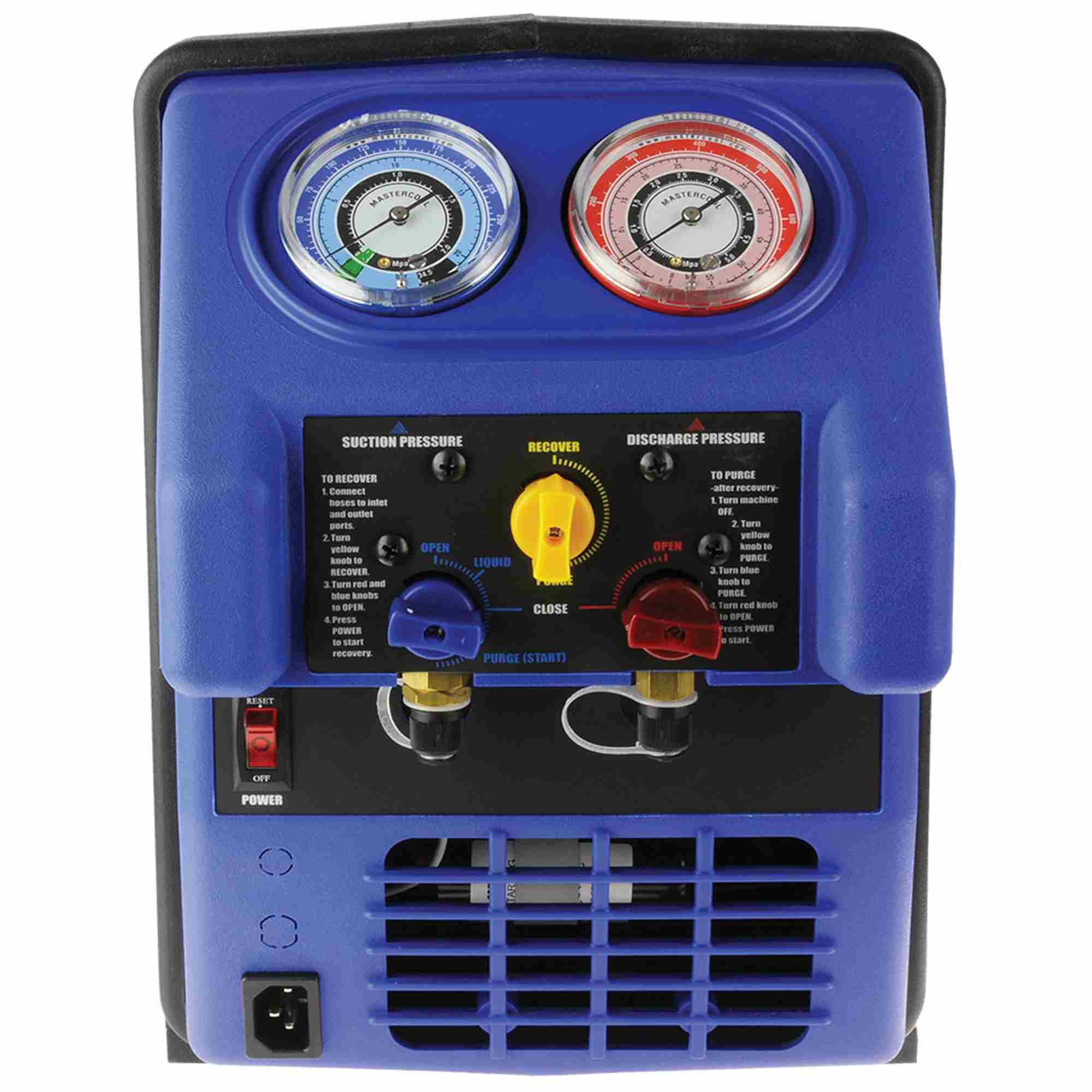 MASTERCOOL 69300 Black//Blue Twin Turbo Refrigerant Recovery System