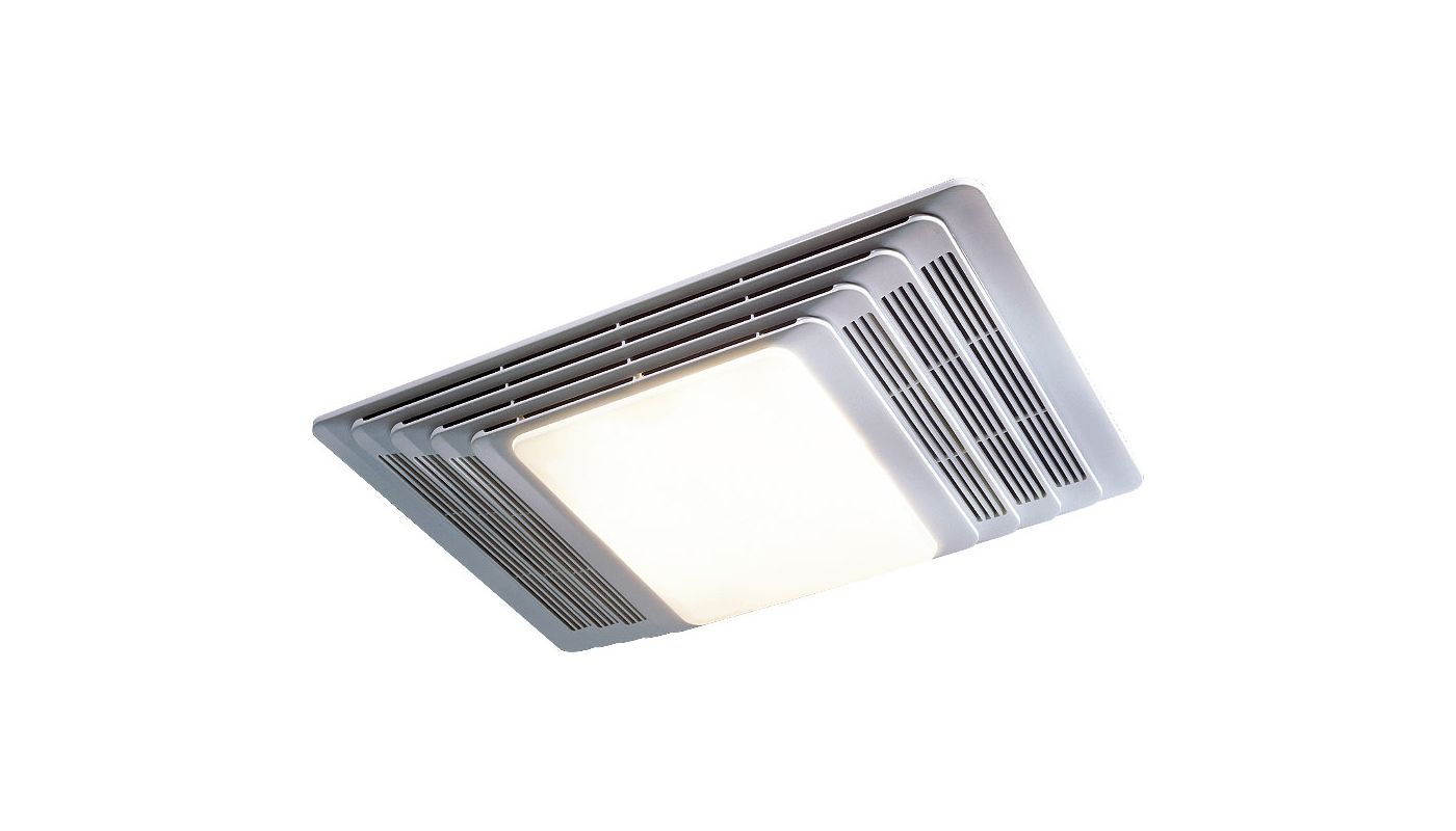 Broan Fan With Heater Light And White Plastic Grille 70 Cfm 655