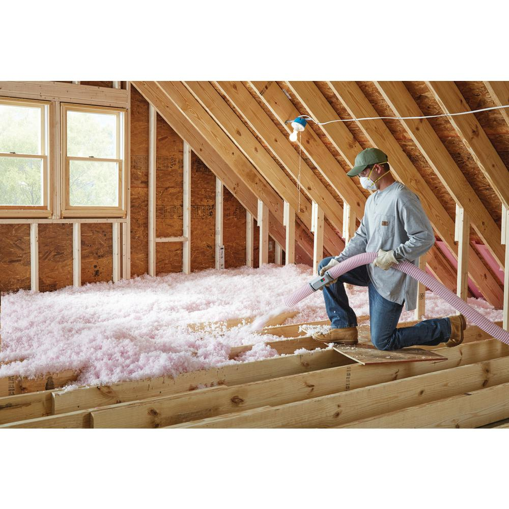 Atticat Pink Expanding Fiberglass Blown In Insulation